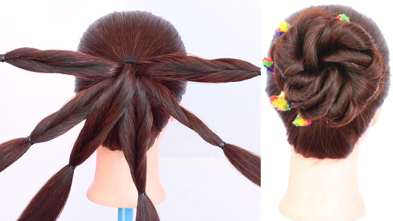 New Trending Juda Hairstyle With Trick Messy Bun Cute
