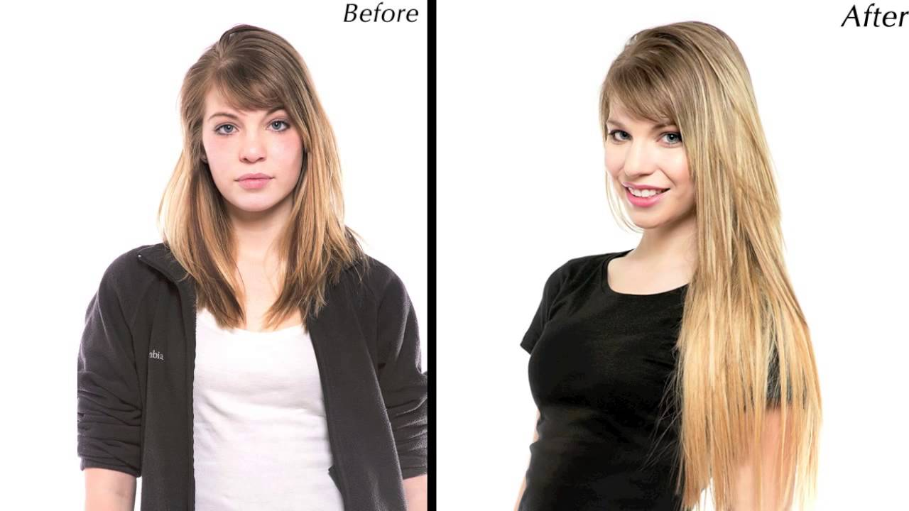 Hair Extensions Before And After Video Youtube
