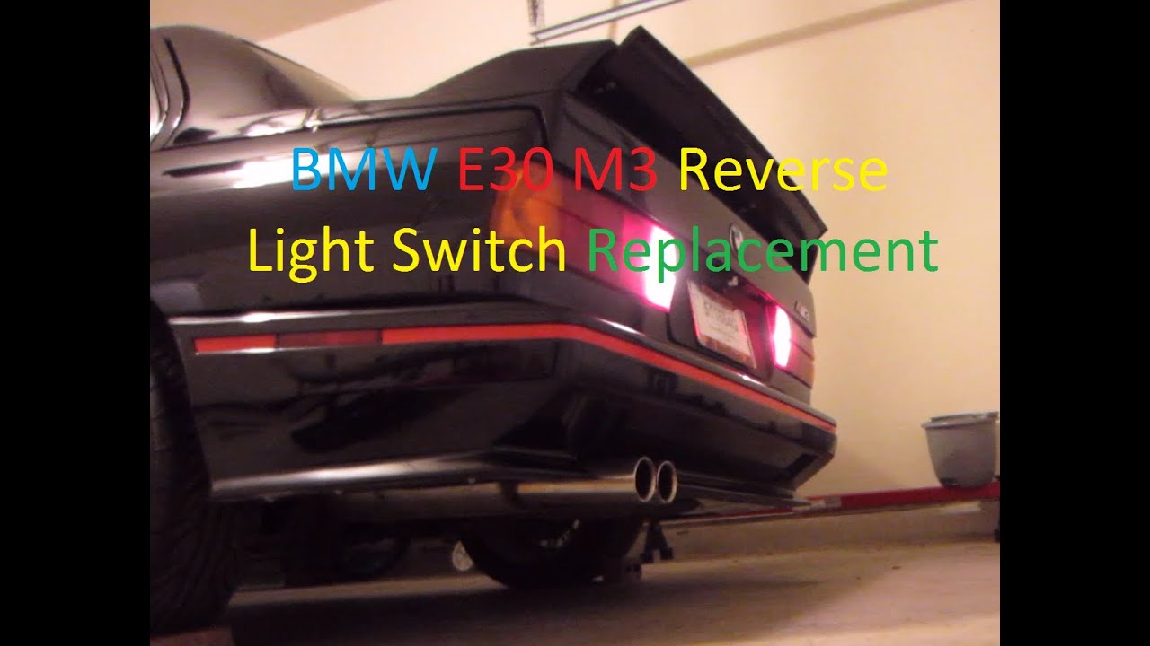 e30 m3 reverse light switch harness repair youtube. Black Bedroom Furniture Sets. Home Design Ideas