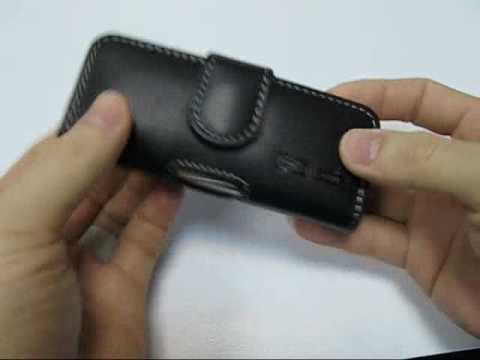 PDair Leather Case for Samsung SGH-L700 h Pouch Type (Black)