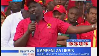 DP William Ruto's speech during Jubilee's rally at Nairobi's Uhuru Park