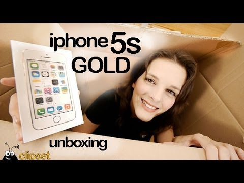 Apple iPhone 5s gold y space gray unboxing - YouTubeIphone 5s Champagne Gold Unboxing