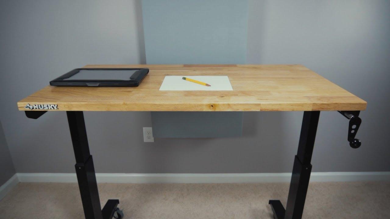 quick look husky adjustable work table youtube rh youtube com adjustable work table manufacturing adjustable work table on wheels