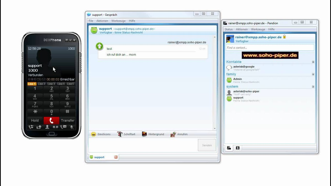 Pandion Click To Call Im Chat Client Via Asterisk Pbx -5746
