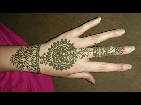 unique and easy mehndi design for back hands |by Sheeba sheikh