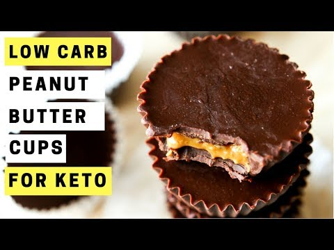 3 Ingredient KETO Peanut Butter Cups Recipe | Chocolate Peanut Butter Cup Fat Bombs | Keto Recipes