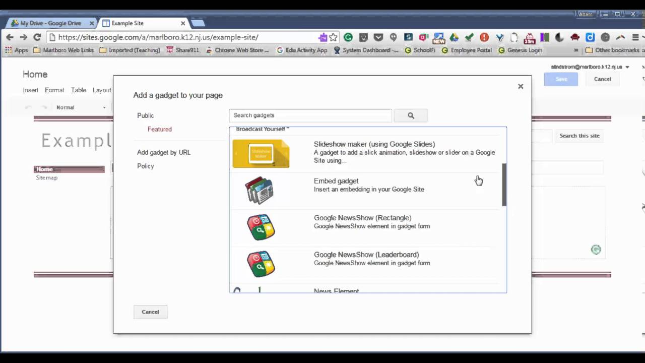 Google Sites Overview and Demo - YouTube