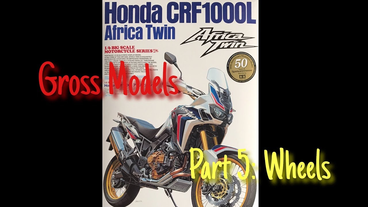 Tamiya 16 CRF1000L Africa Twin Motorcycle Build Part 5 Wheels Gross Models