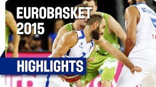 Greece v Slovenia - Group C - Game Highlights - EuroBasket 2015