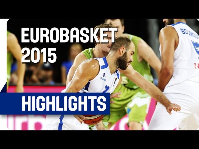 Ευρωμπάσκετ 2015 | Ελλάδα-Σλοβενία 83-72 🏀 Video με στιγμιότυπα του αγώνα και οι δηλώσεις μετά τη νίκη