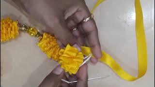 DIY satin ribbon garland for God