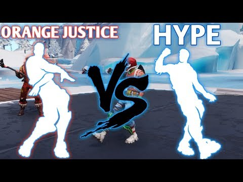 FORTNITE HYPE EMOTE VS ORANGE JUSTICE EMOTE!!!