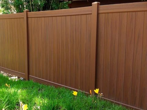 Wood Grain Vinyl Fence Panel You