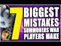 7 Biggest Mistakes Summoners War Players Make