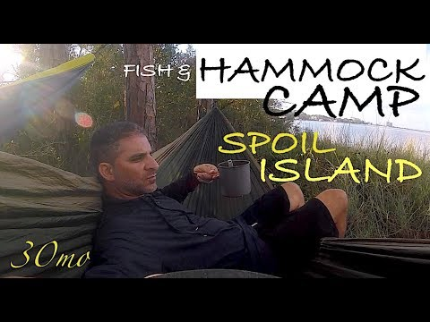 Hammock Camping on Island - Kayak Fishing Pensacola Forida