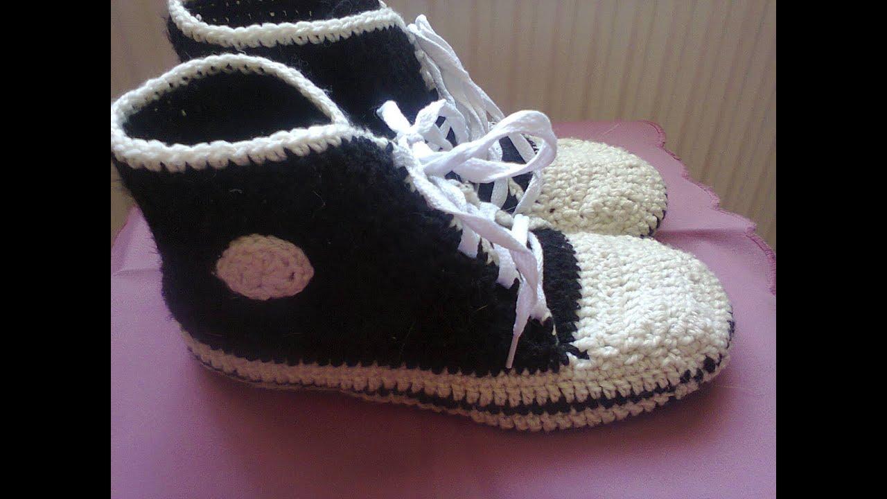 Вязание кроссовки видео