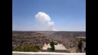 قصف بلدة كفرسوم الأردنية في مدينة أربد