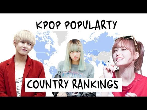KPOP GROUP POPULARITY COUNTRY RANKINGS