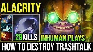 AlaCrity [Tinker] The Man With The Inhuman Plays And Destroyed Counters 29KIlls Crazy Game | Dota 2