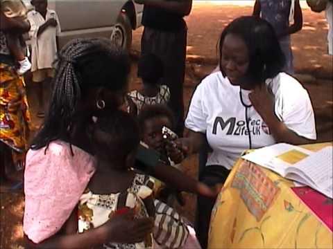 Motec & Nkawkaw Hospital Nurses on a routine Public Health visit at Kwahu Awenade Village