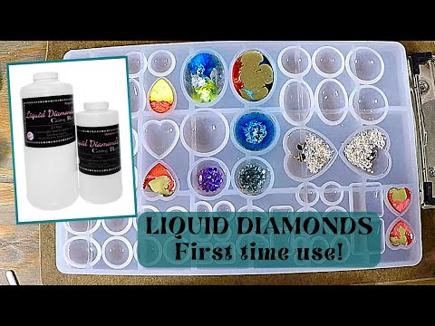 Liquid Diamonds Casting Resin in molds test to make jewelry