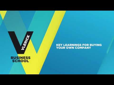 Key learnings for buying your own company