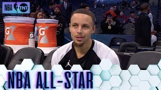 Steph Curry Joins All-Star Pregame | All-Star 2019
