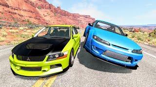 Street Racing Crashes #15 - BeamNG Drive   CrashBoomPunk