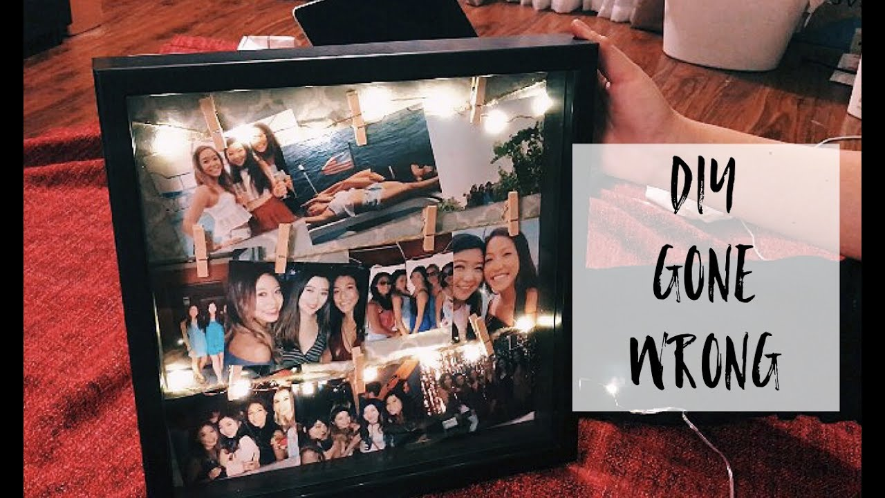 DIY: Light up picture frame