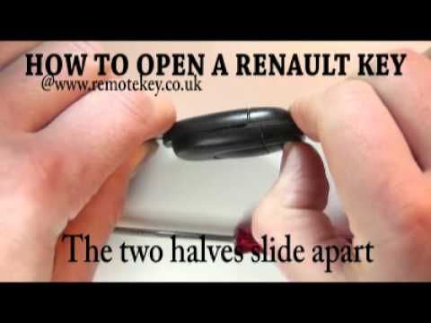 Car Key Fob >> Renault Car Keys - How To Open A Renault Key Fob - YouTube