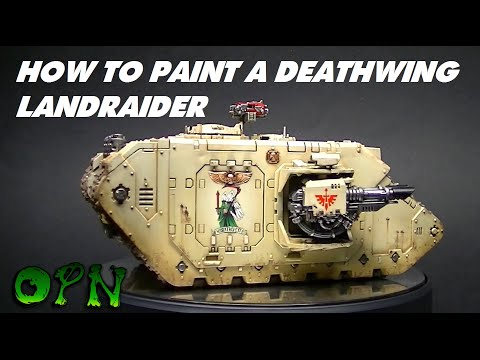 How to paint a Deathwing Landraider