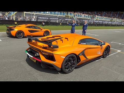 Supercars Drag Racing – Aventador SVJ, 1200HP GT-R, 480HP Golf 7 R, RENNtech C63 S, 740HP RS6 C7,…