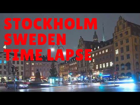 Stockholm, Sweden Time Lapse at night - Beautiful City!