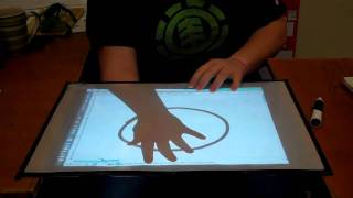 Cheap Wiimote Tabletop Touch Screen Display