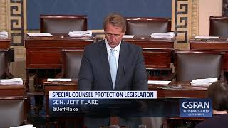 Sen. Jeff Flake (R-AZ) on Special Counsel Investigation (C-SPAN)