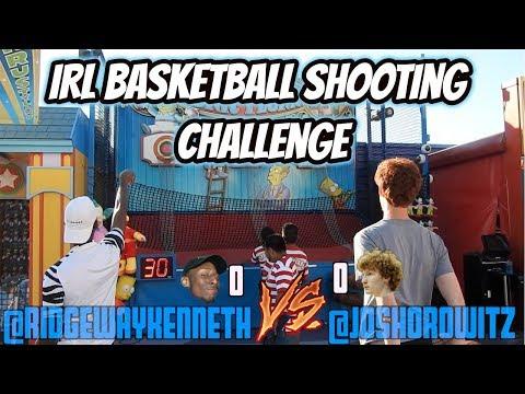 IRL Basketball Shooting Challenge! Universal Studios!