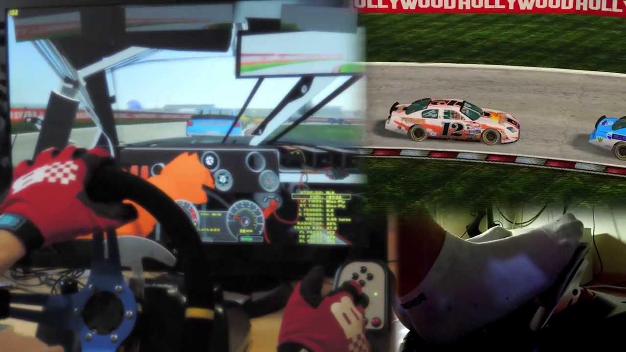 Nascar Racing Games >> NASCAR mod - rFactor 2 mod Logitech G27 gameplay Custom Steering Wheel, feet/clutch. 1080p 2013 ...