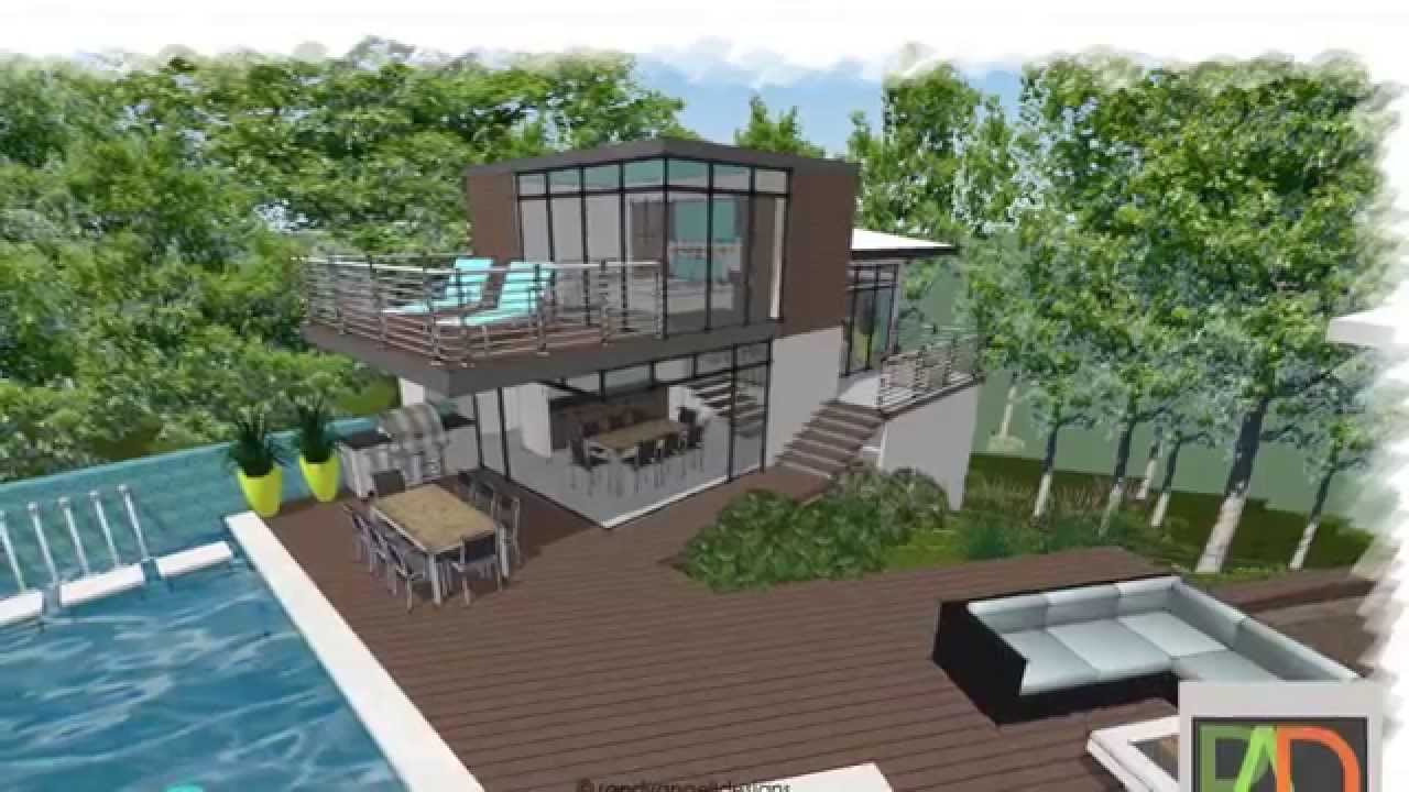 guest house cabana design and swimming pool renovation concept