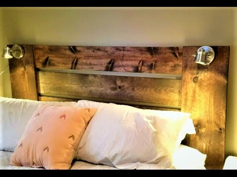 DIY - Easy Lighted Headboard!