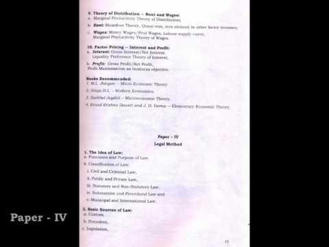 3rd Semester B A LLB Syllabus, University of Calcutta.