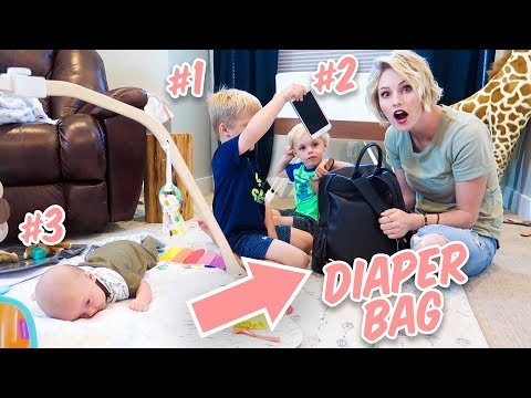 What&39;s In My DIAPER BAG With 3 KIDS