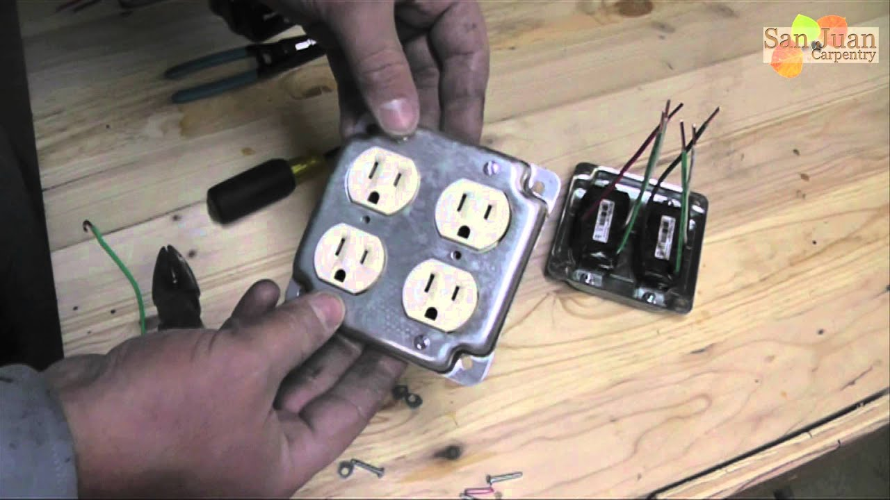 maxresdefault outlet receptacle wire up how to youtube 4 plug outlet wiring diagram at reclaimingppi.co