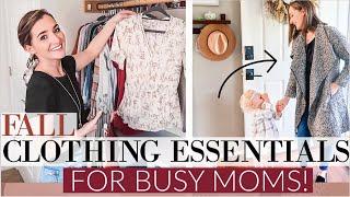 AUTUMN FALL WARDROBE ESSENTIALS for moms! | ORGANIZE MY CLOSET WITH ME | Natalie Bennett Closet Tour