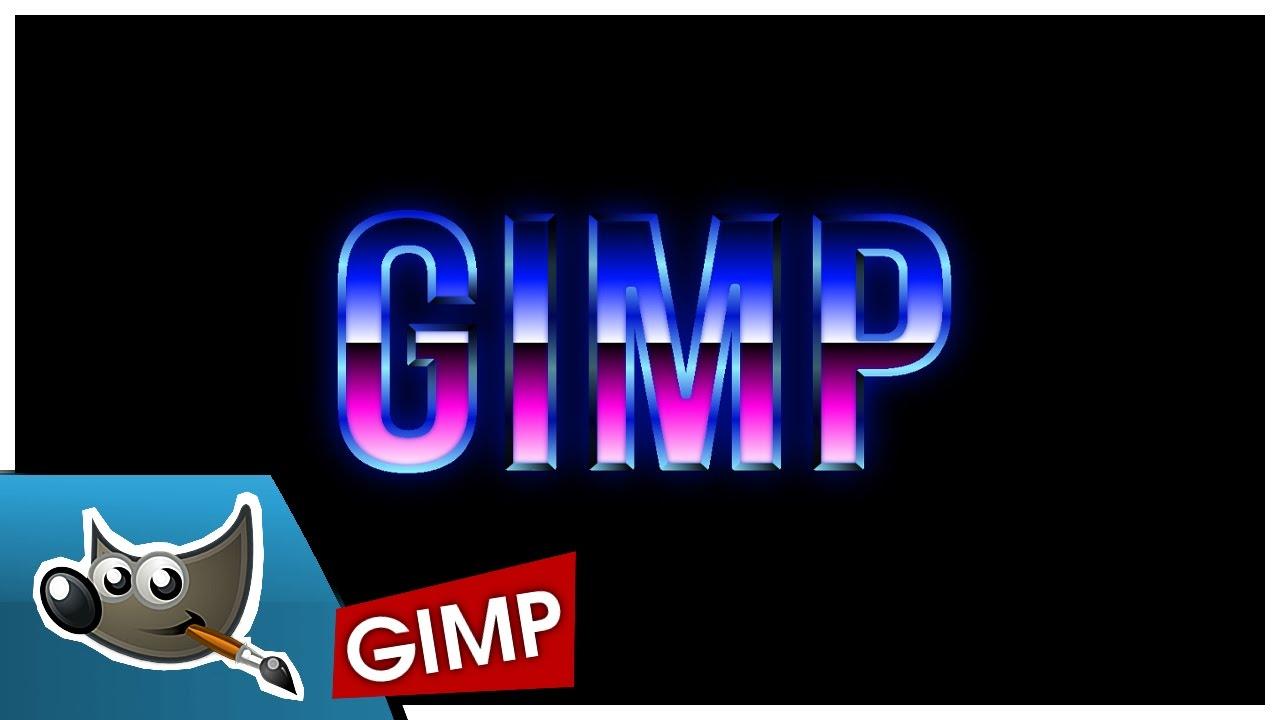 GIMP - 80'er Retro Text Effekt