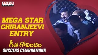 MEGA STAR Chiranjeevi Entry @ Geetha Govindam Success Celebrations