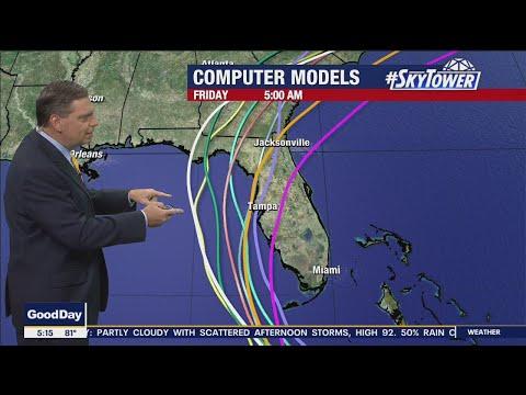 Tropical Storm Elsa Monday morning forecast