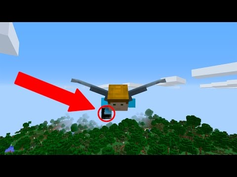 BEST FLY HACK EVER!! (MINECRAFT 1.11 ELYTRA!!)