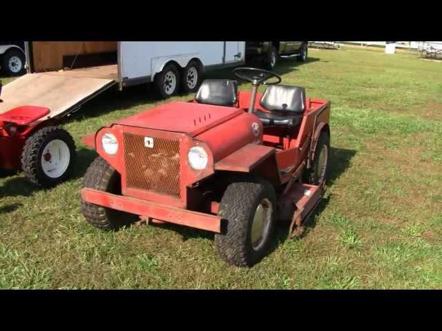 Riding Mower Rare Mini Jeep Roof Palomino Lawn Tractor