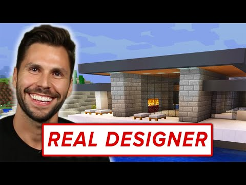 A Real Designer Builds A Mansion In Minecraft • Professionals Play