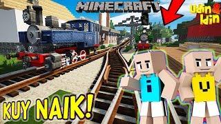 UPIN IPIN NGABUBURIT NAIK KERETA LOKOMOTIF UAP Minecraft Lucu